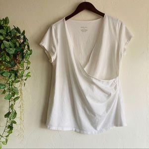 Merona White Wrap top